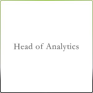 Head of Analytics