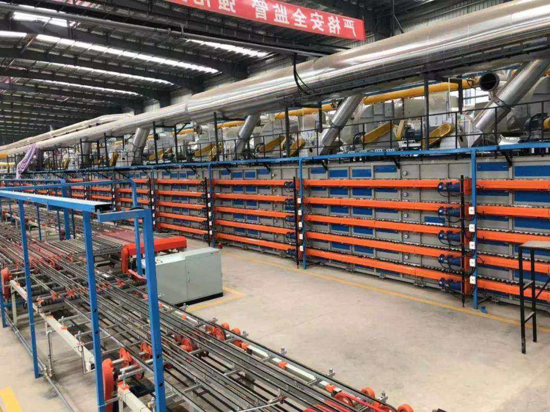 Dry hanging hollow terra cotta production line