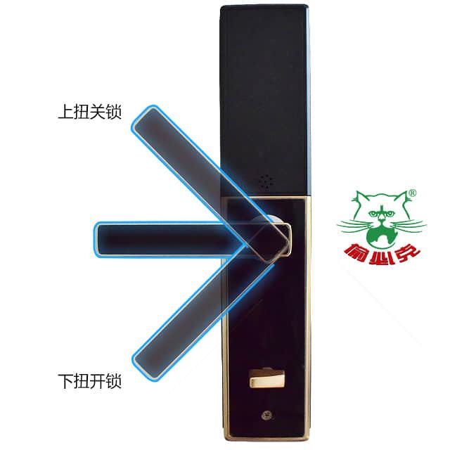 偷必克半自动智能门锁TBK04