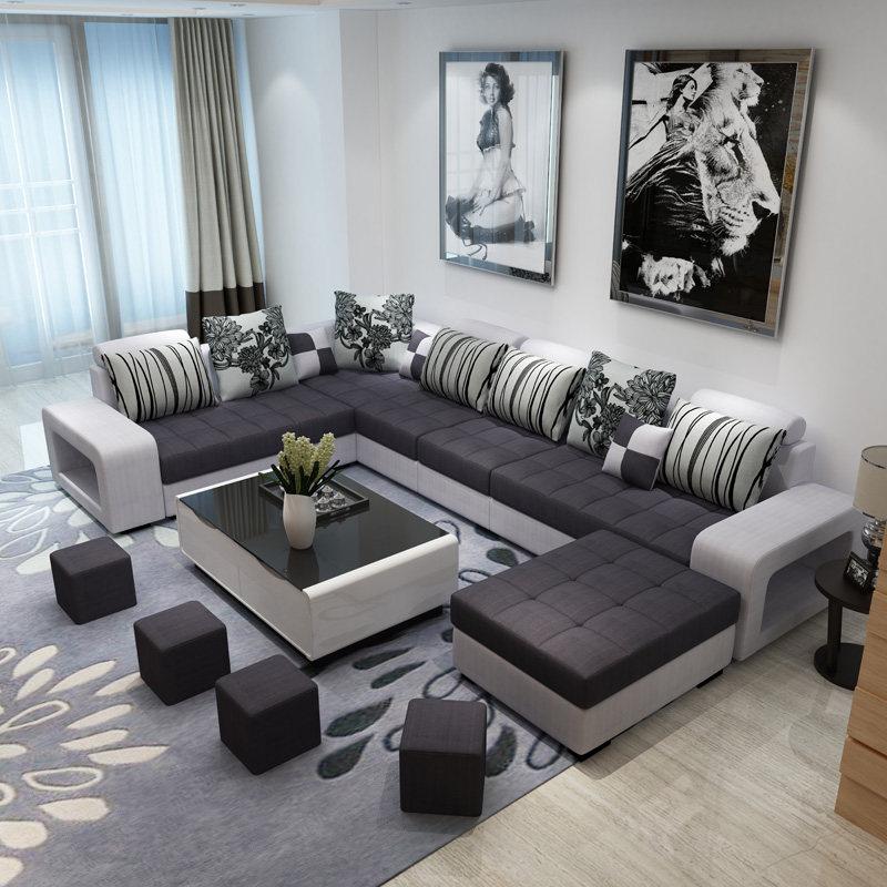 简约现代新款沙发整装组合