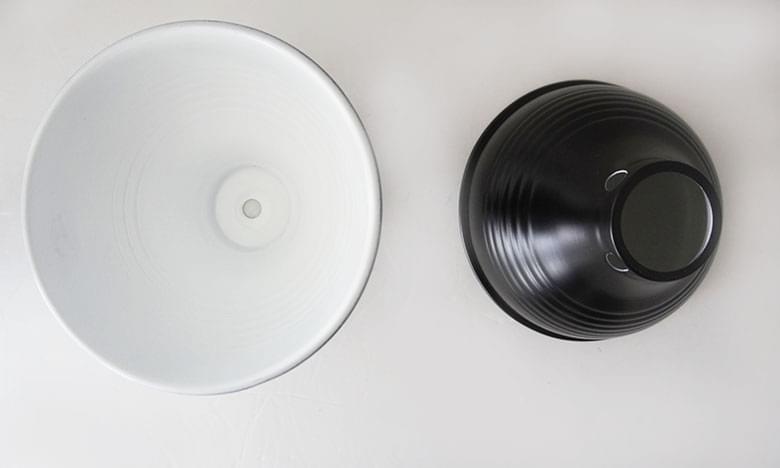 黑色漏斗圆边灯罩