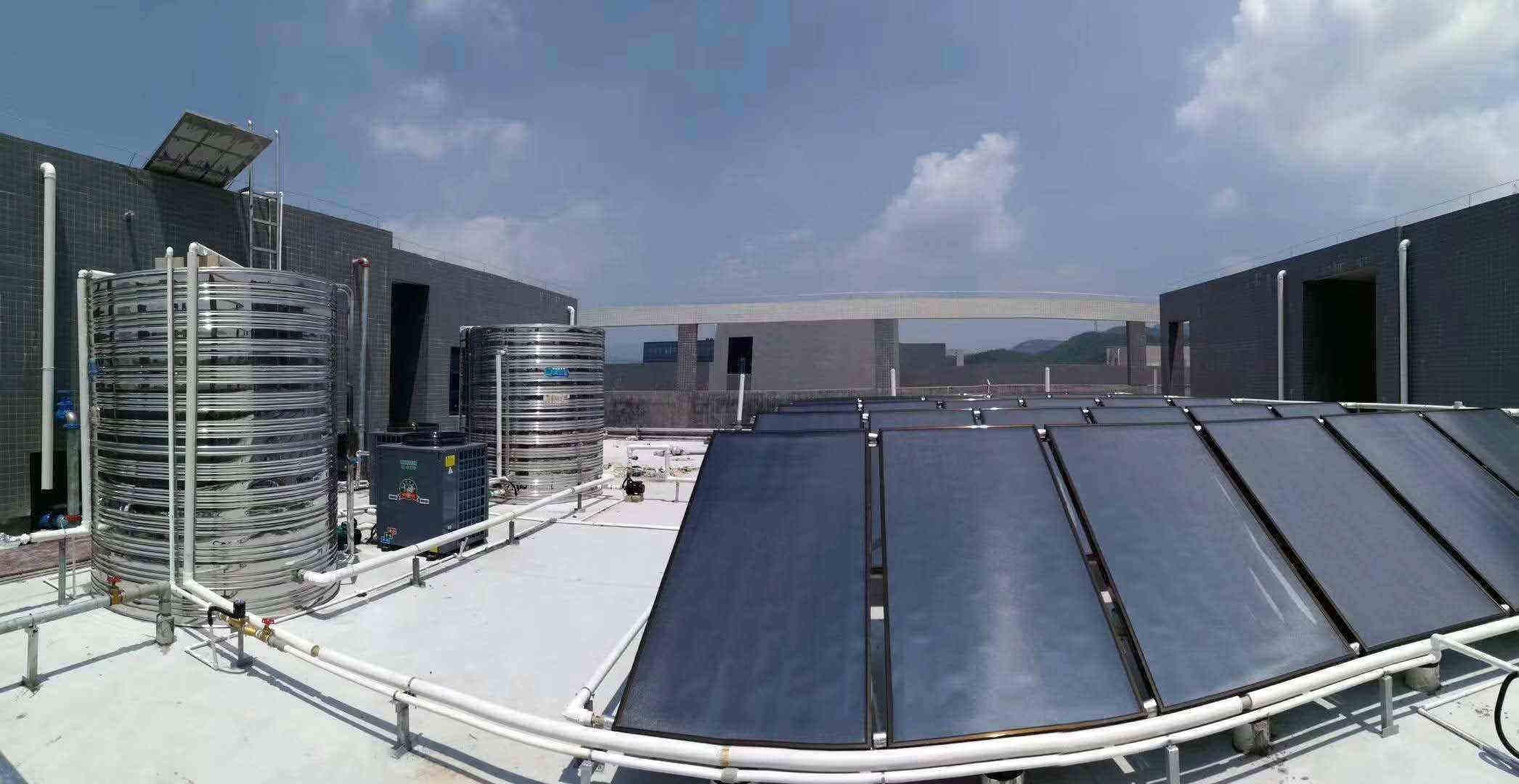 2台5匹 10吨太空能中央热水