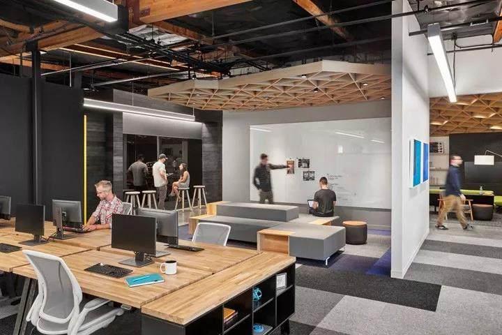 当代办公室设计需求:满足对开放式、私密式、交流式等多种办公的需要