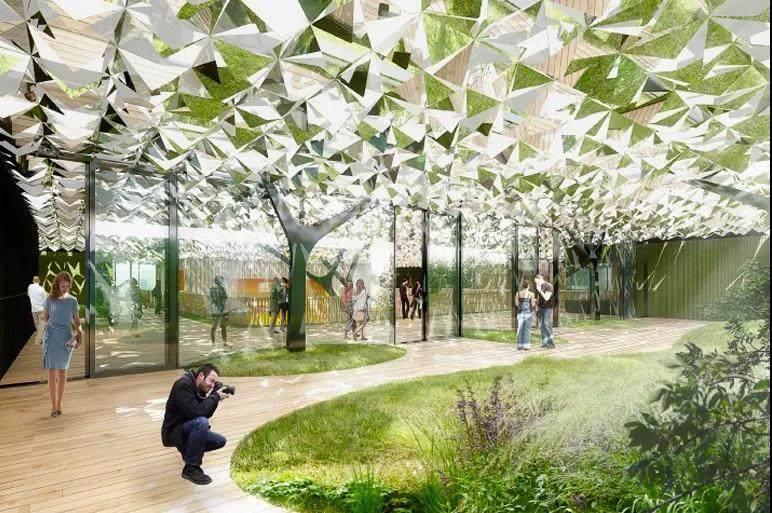"""6800片""""叶子""""做屋顶的办公大楼!这才是真正的创新环保"""