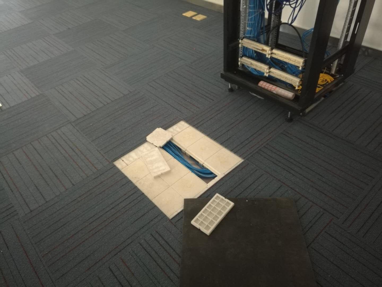 友联工程塑料网络地板布线说明
